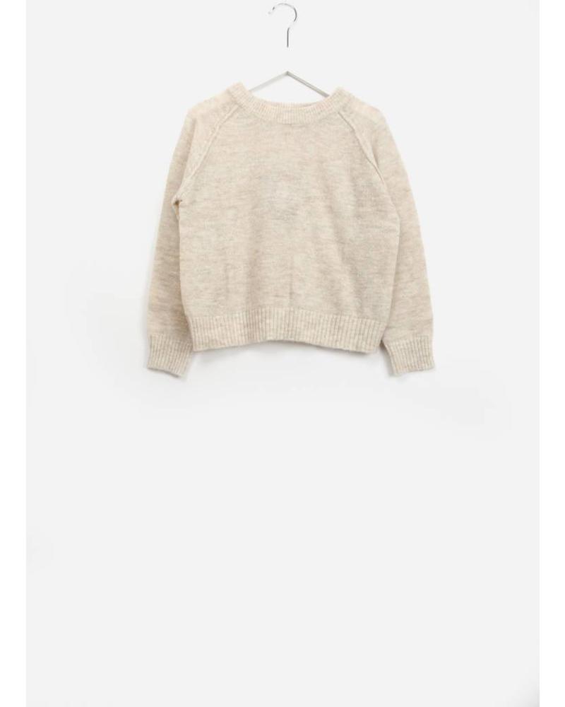 Bellerose girls knitwear deinze beige melange