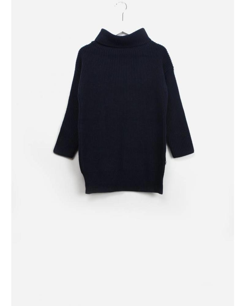 Repose knit cowl sweater classic blue
