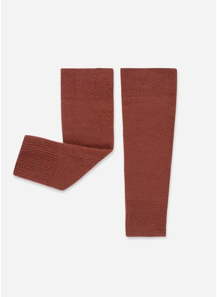 Repose knitted legwarmers faded smoked red