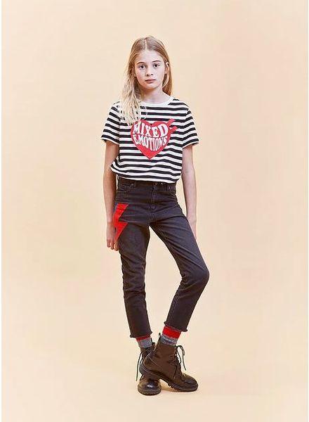 Indee t-shirt dallas big heart stripe black