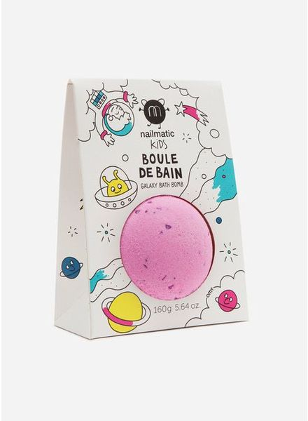 Nailmatic cosmic bath ball pink purple dots