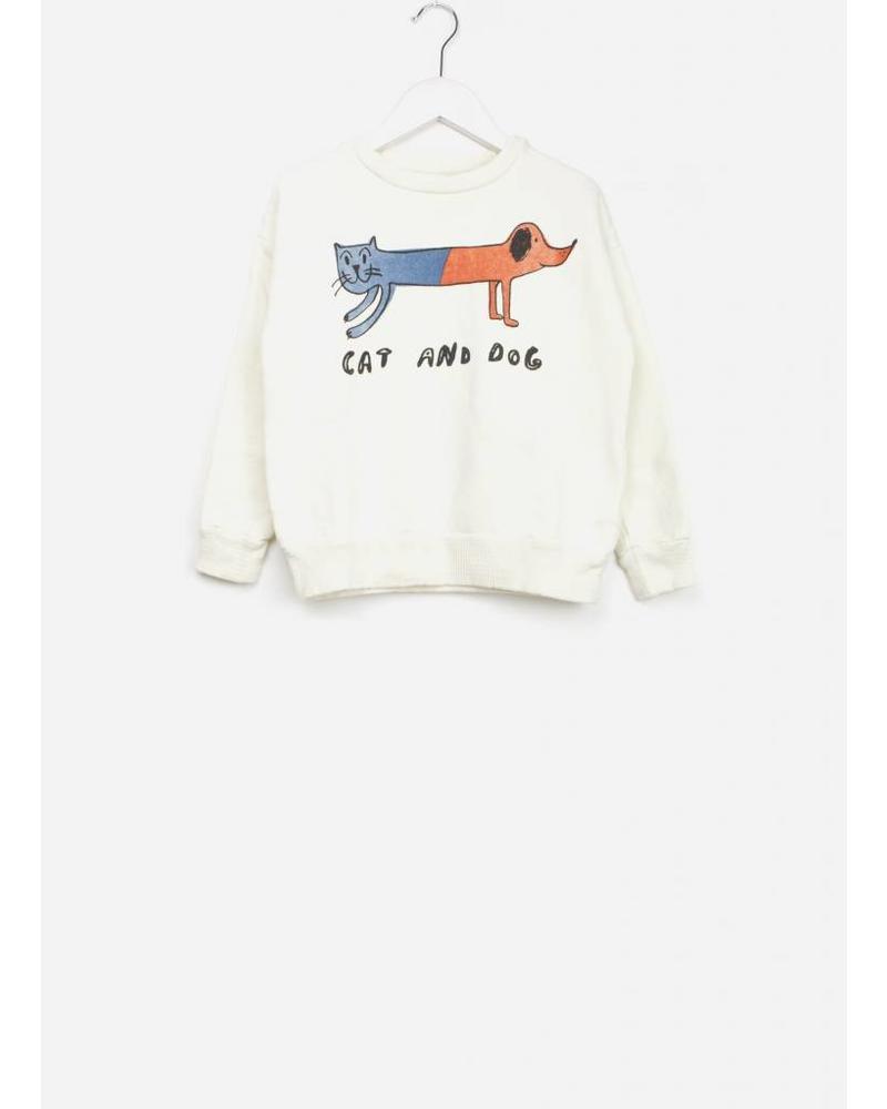 Bobo Choses cat and dog round neck sweatshirt