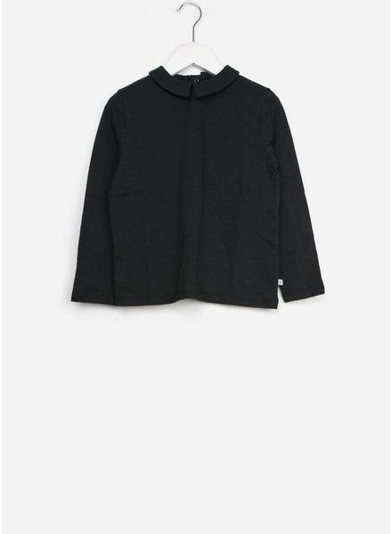 Repose t shirt with collar dark night black
