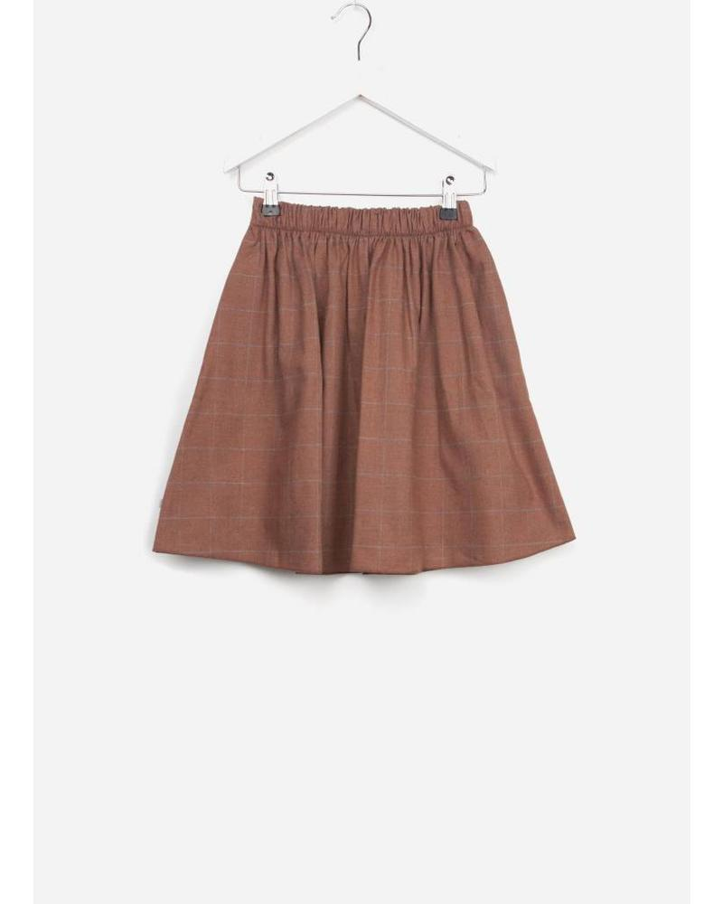 Repose Midi skirt bold stone check