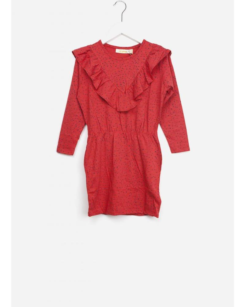 Soft Gallery bea dress red mini dots