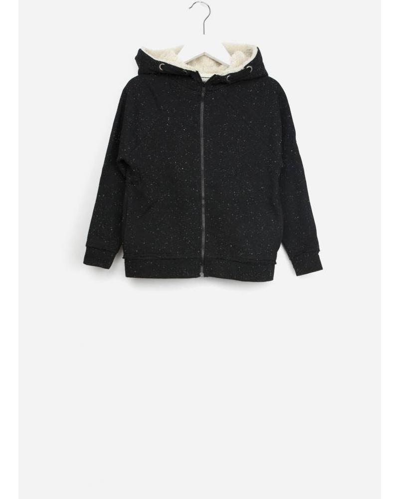 Buho bjorn melange fleece hood sweater antracite
