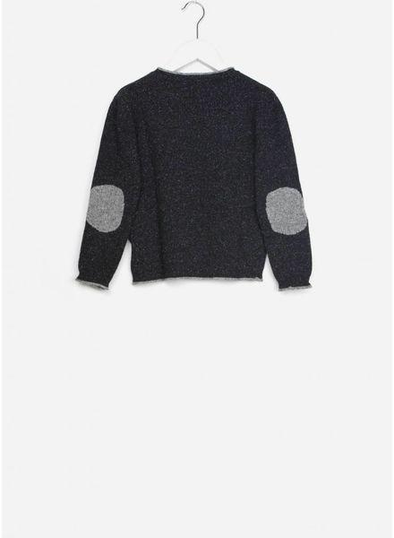 Buho trui pierre knit bicolor black