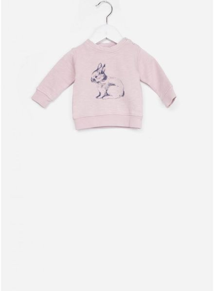 Bonton sweat baby lapin guimauve