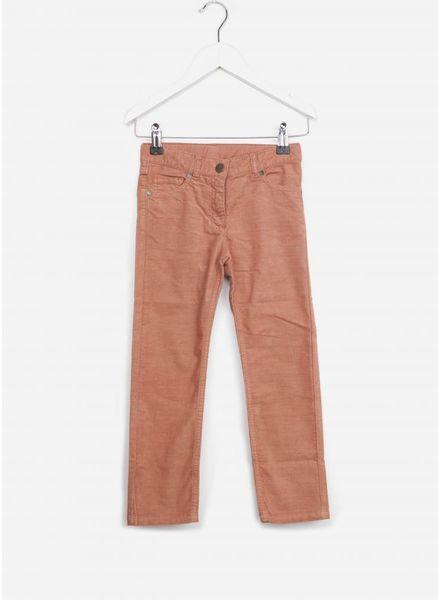 Bonton broek velours cotele rose cuir