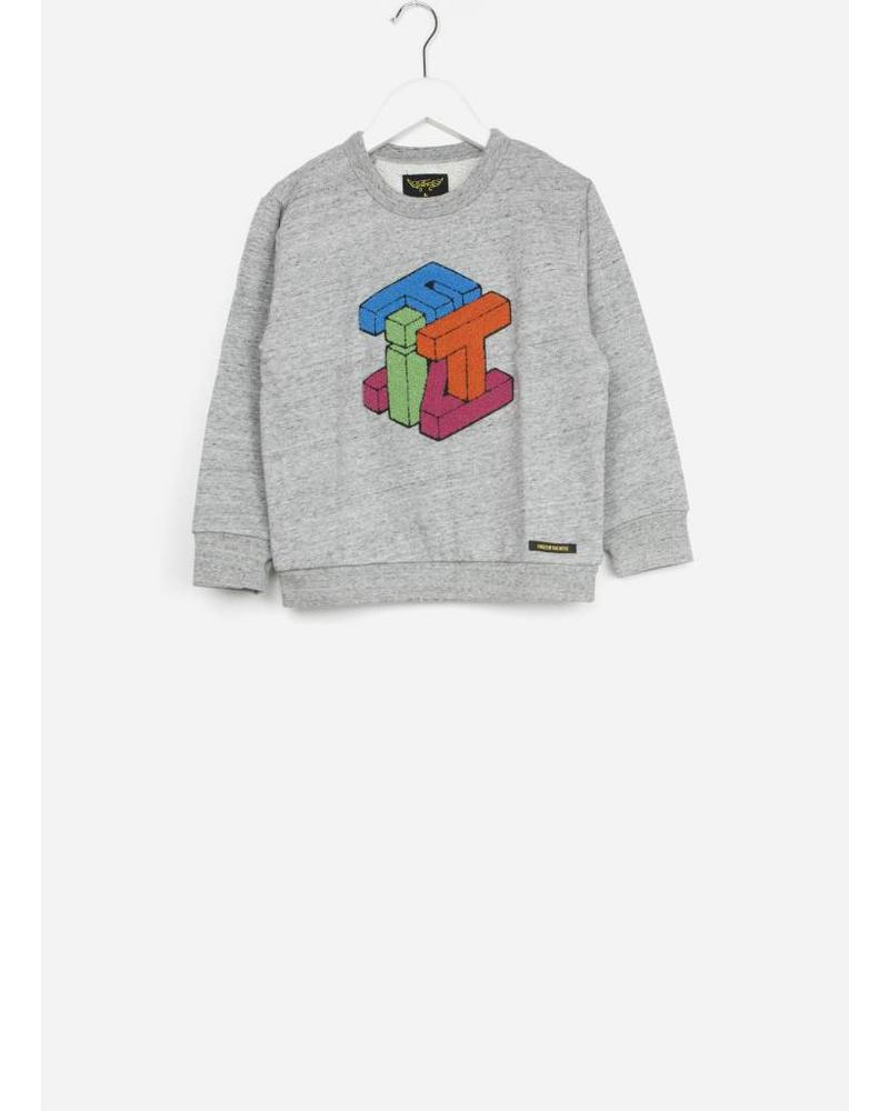 Finger in the nose brian heather cube sweater