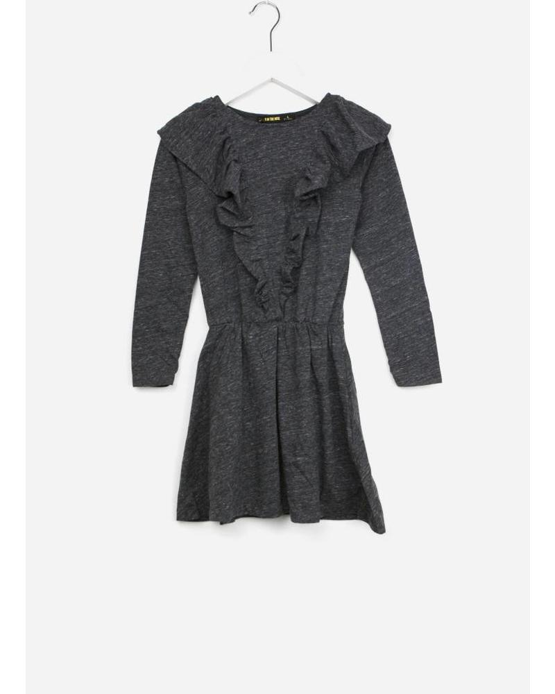 Finger in the nose birdy heather antracite knitted dress