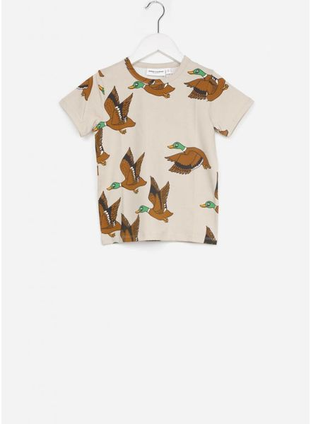 Mini Rodini shirt ducks beige