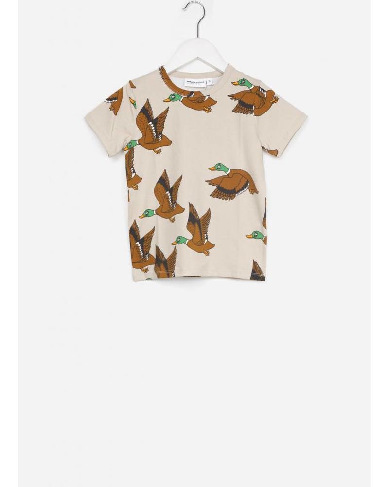 Mini Rodini ducks aop ss tee beige