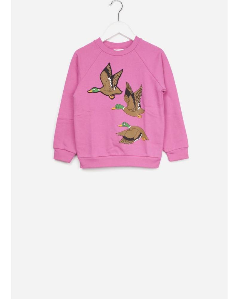 Mini Rodini duck sweatshirt cerise