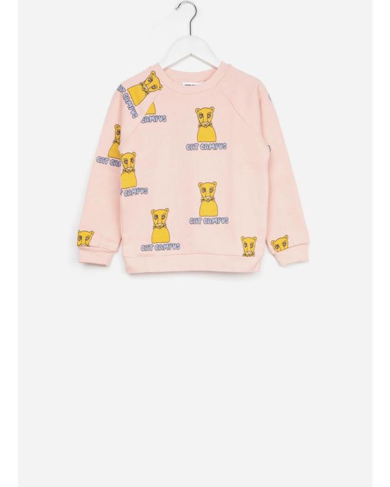 Mini Rodini cat campus sweatshirt pink