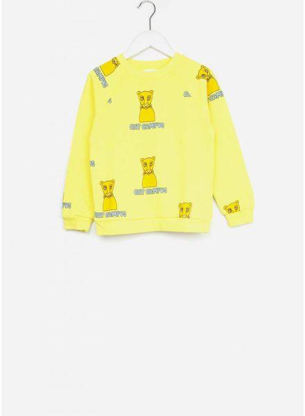 Mini Rodini trui cat campus yellow