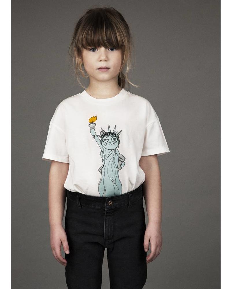 Mini Rodini liberty sp ss tee white