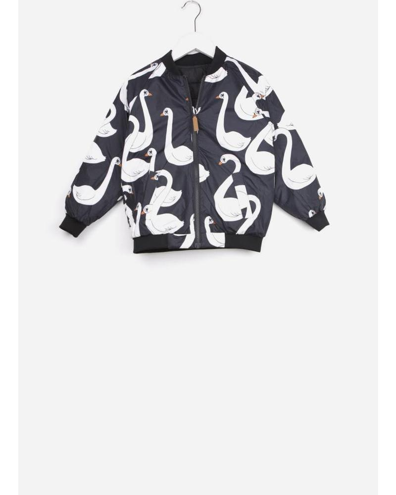 Mini Rodini swan insulator jacket black