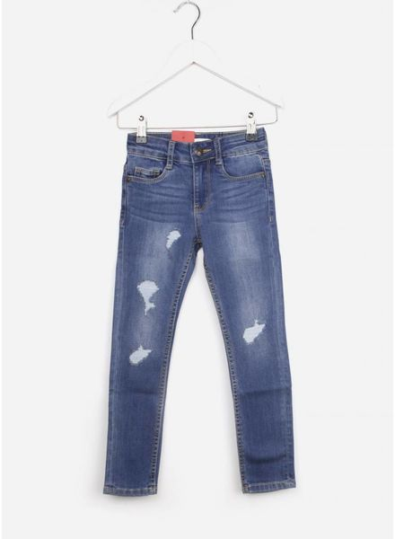 Levi's 711 broek destroy denim
