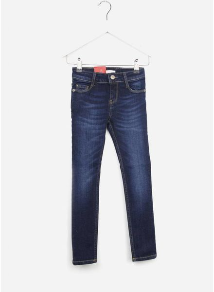 Levi's 711 broek dark blue denim