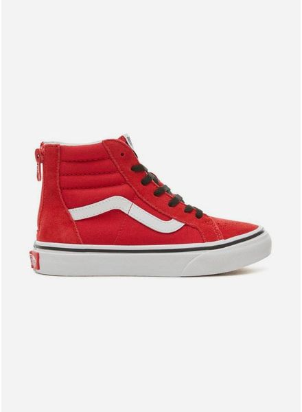 Vans suède pop sk8-Hi zip Red/black