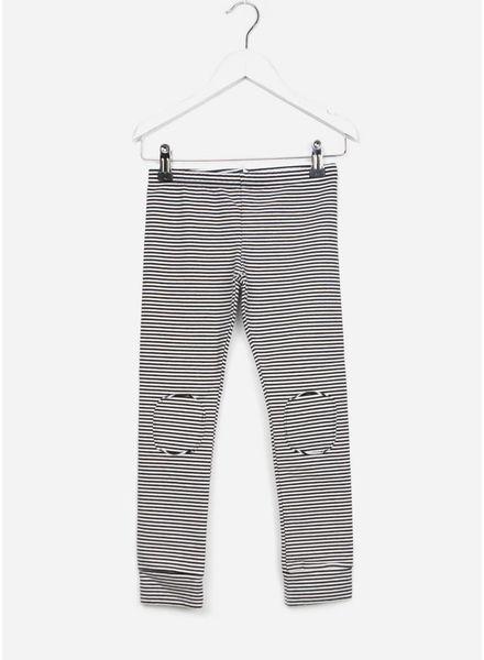 Mingo broek winter legging b/w striped