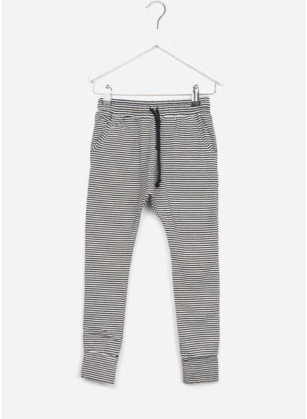 Mingo broek slimfit jogger b/w stripes