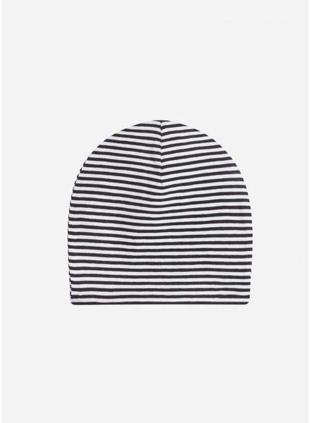 Mingo muts beanie b/w stripes
