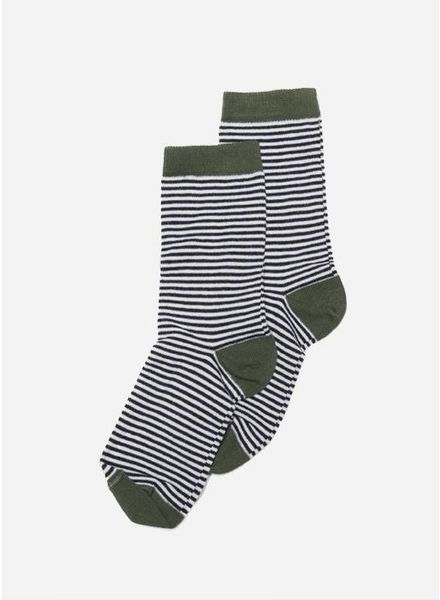 Mingo sokken striped duck green