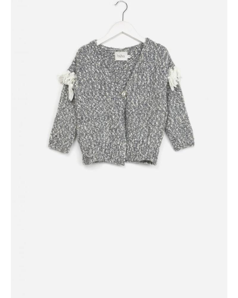 Buho ginger fringes cardigan grey
