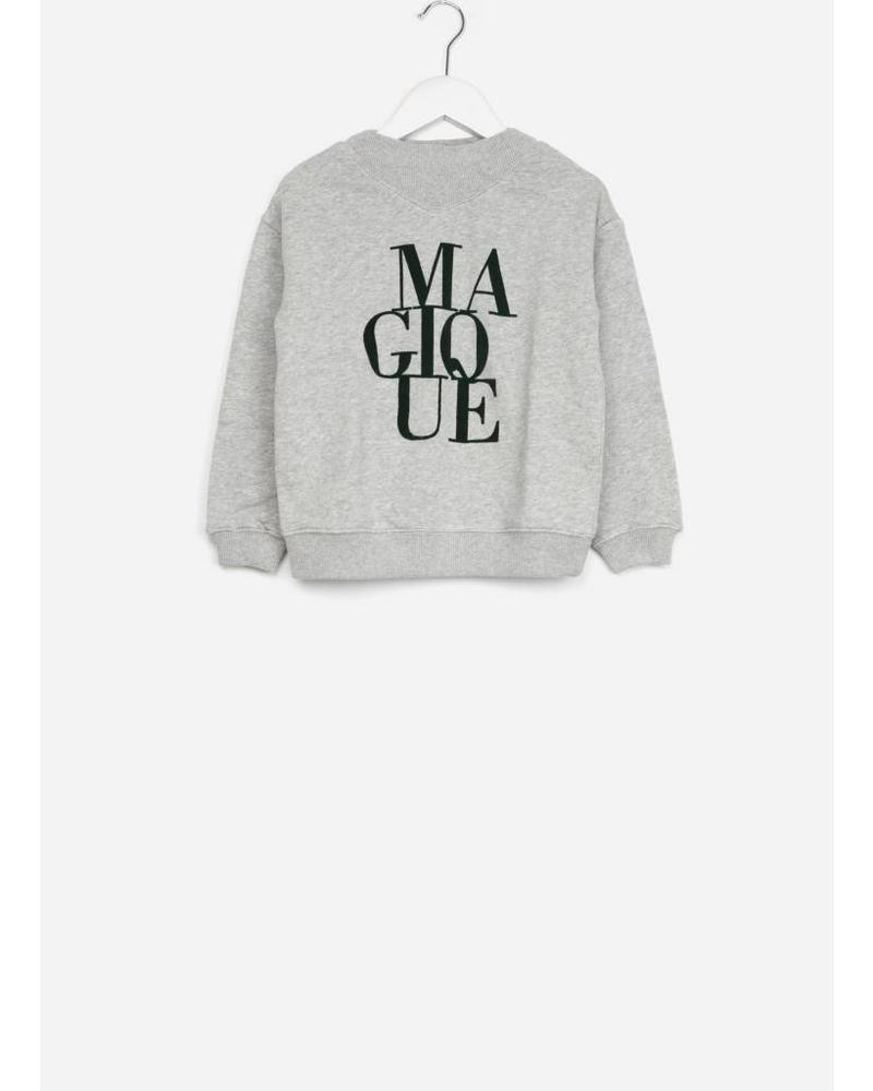 By Bar girls jikke sweater grey melange