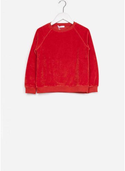 By Bar trui teddy velvet bright red