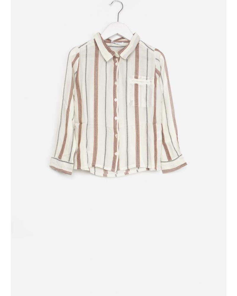 By Bar girls paris striped blouse off white