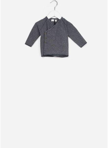 1+ In The Family koji newborn shirt blue/grey