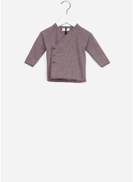 1+ In The Family koji newborn shirt pruna/grey