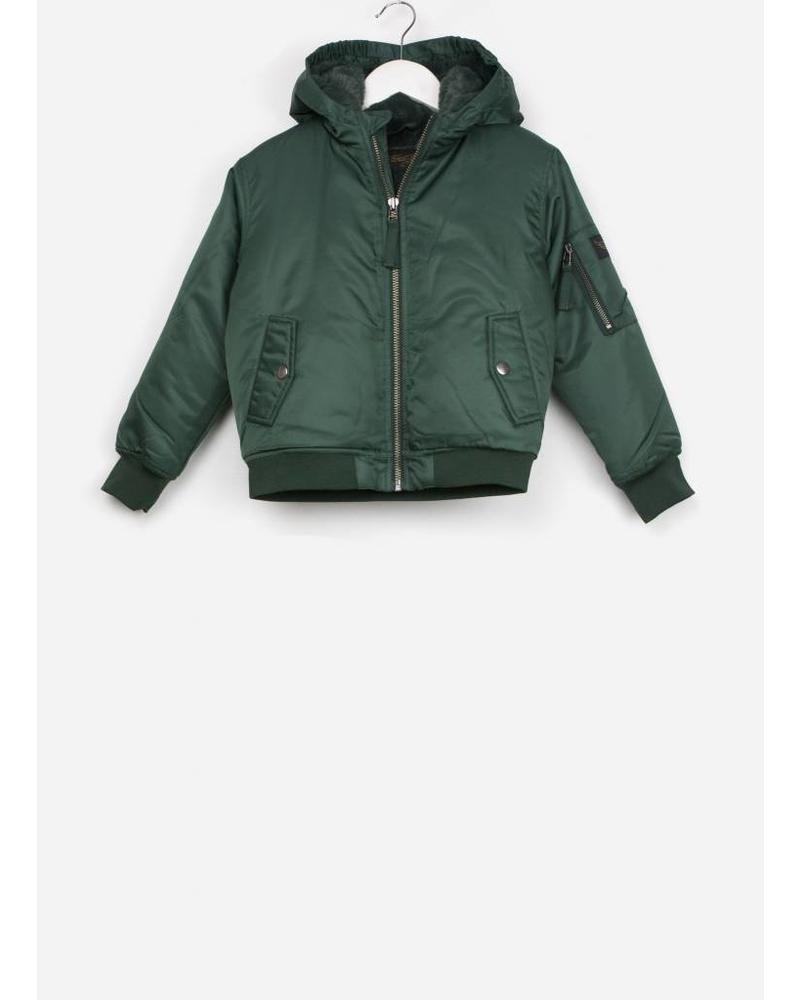 Finger in the nose baltimore college green hooded jacket
