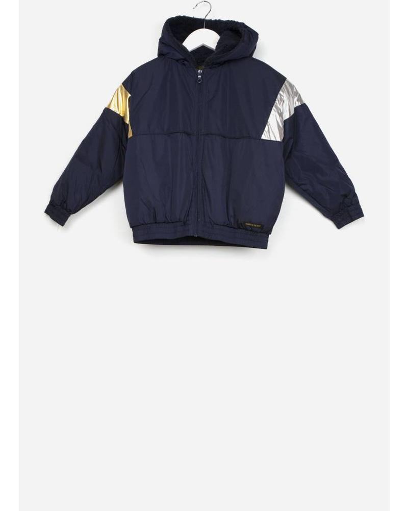 Finger in the nose rainbow night blue tracksuit jacket