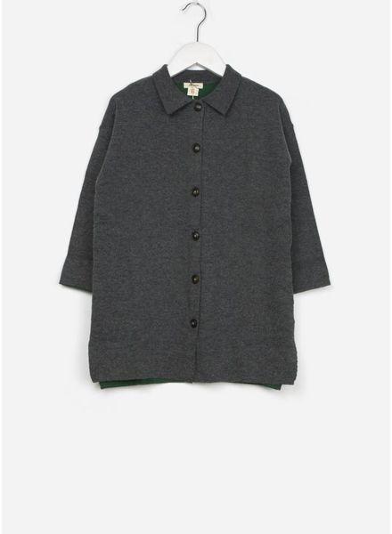 Bellerose vest knitwear uraza mid grey