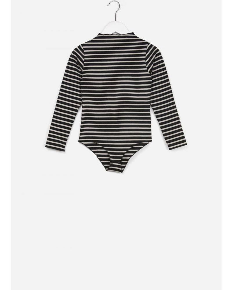 Play Up striped ponto roma bodysuit