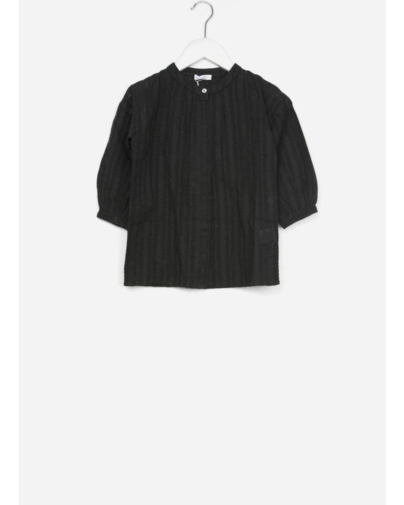 By Bar girls cecile lurex blouse off black
