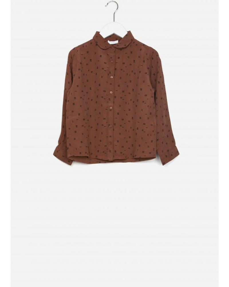 By Bar girls sammie graphic print blouse cognac