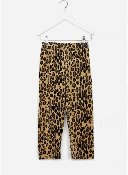 Mini Rodini broek leopard velour beige