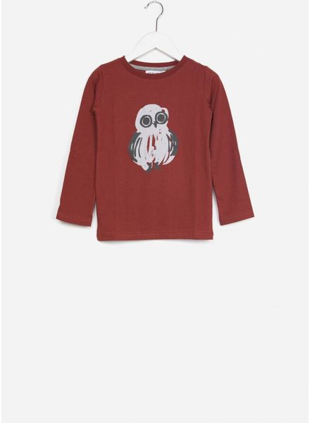 One we Like shirt one owl dark red