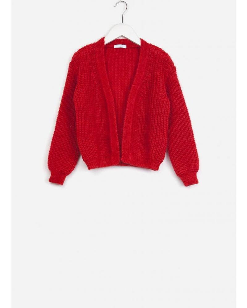 By Bar girls vera cardigan bright red