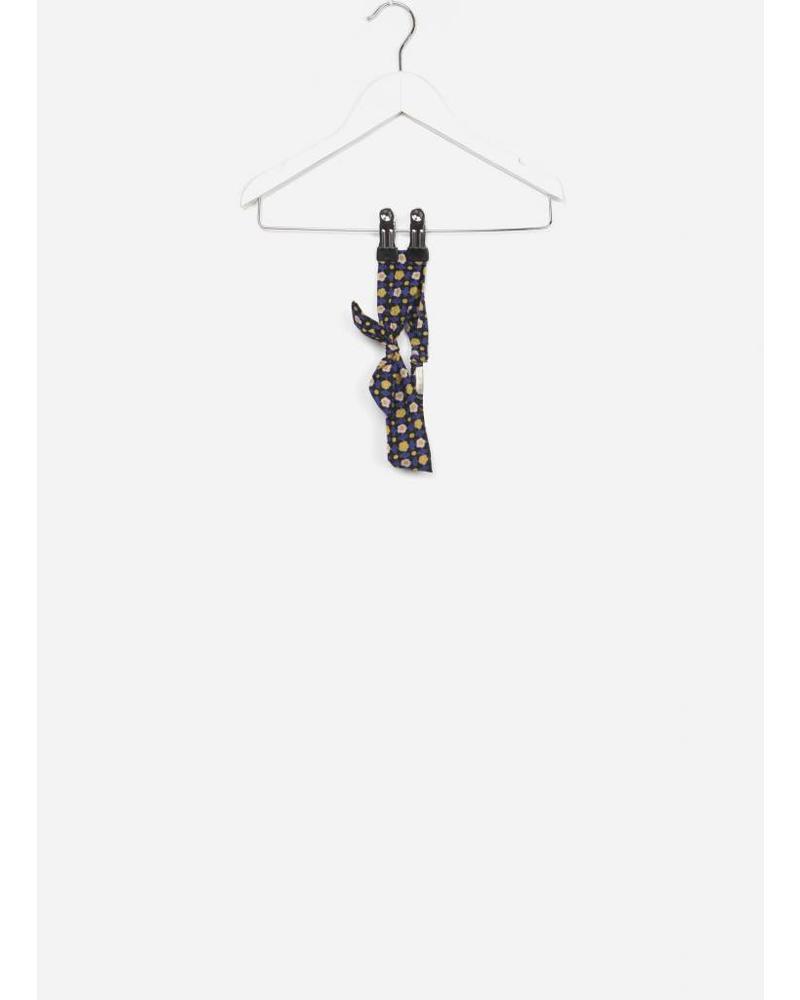 Bonton headband noeud fleur noir