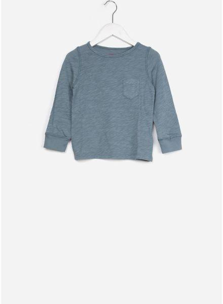 Bonton shirt manches longues bleu orage