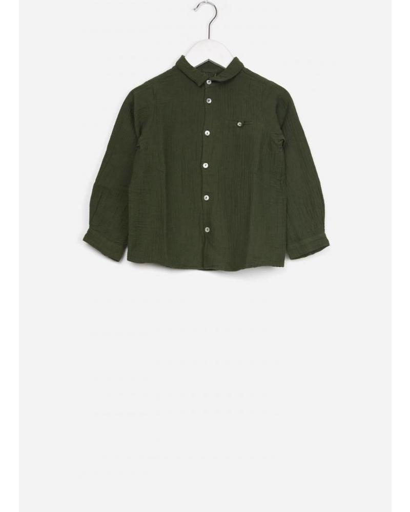 Bonton chemise couche vert scarabee