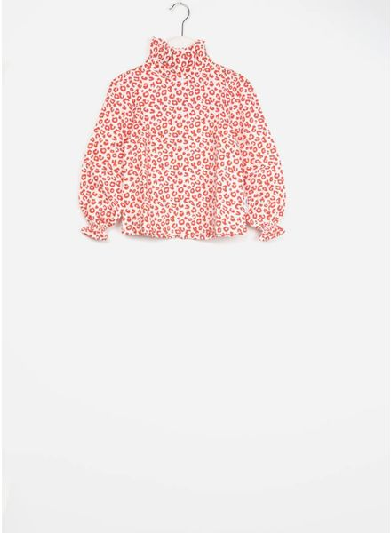 Maed for mini blouse red leopard