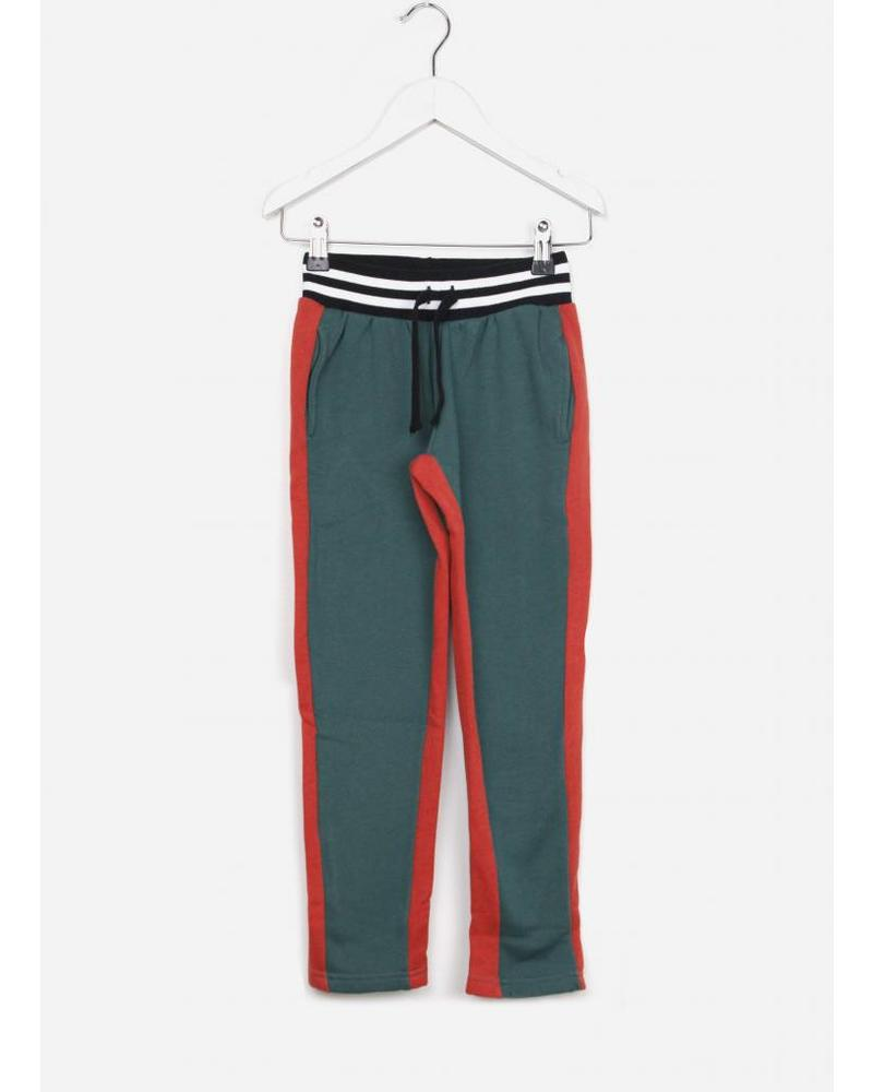 Yporque bicolour pants green red