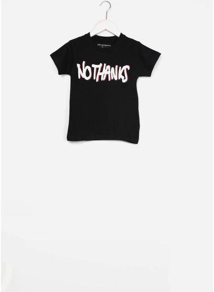 Little Eleven Paris shirt no thanks black